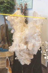 Extra Large Giant Singing Angel Wing Quartz Crystal Cluster with Record Keepers Width
