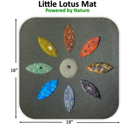 Little Lotus Mat Powered by Nature 18 x 18