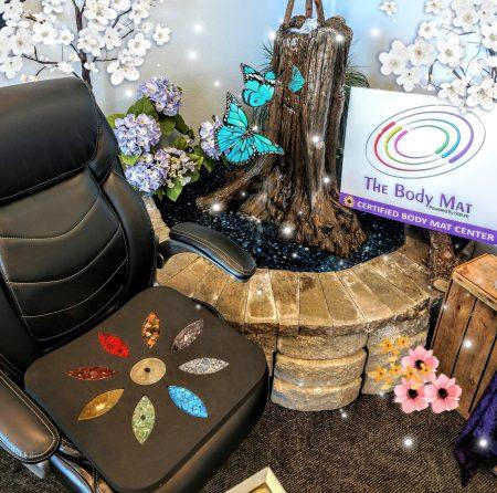 Little Lotus Mat in a Desk Chair